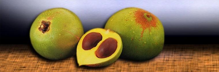 Lucuma lijkt ook wel op een avocado.