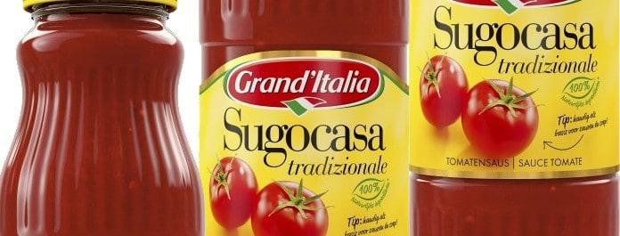 De standaardversie van de tomatensaus.