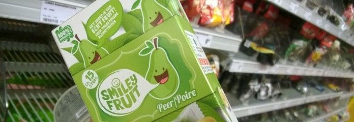 Snoep met echt fruit! Ja, in de vorm van geconcentreerd sap, 1/3 van het snoepje...