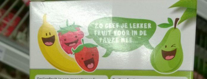 Zo geef je ze lekker fruit voor in de pauze mee, aldus Smiley Fruit.