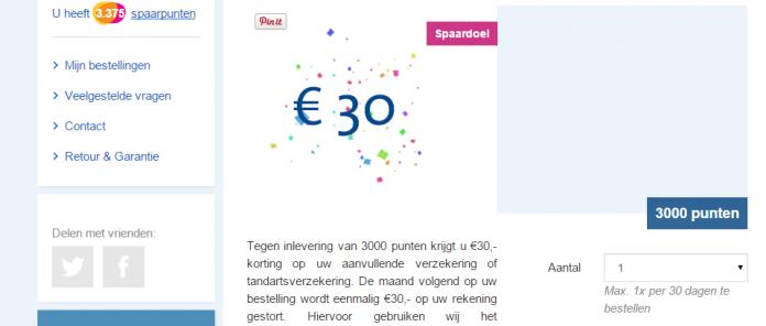 Inmiddels heb ik mijn spaardoel gehaald: 30 euro!