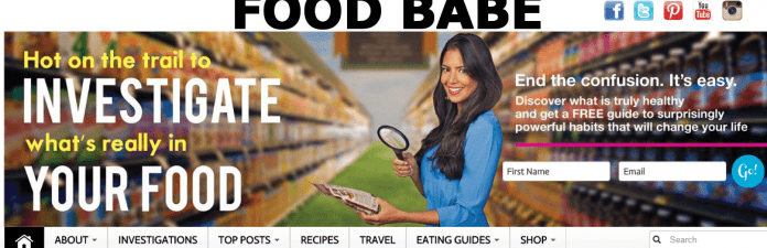 Foodbabe.com is een voorbeeld van een niet-betrouwbare panieksite.