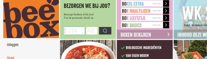 De website van de beebox.