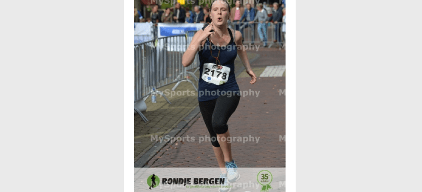 In 2014 was dit mijn finishfoto voor de 16 kilometer van Rondje Bergen.