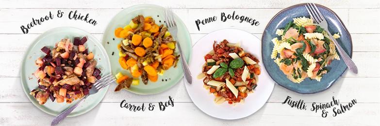 De vier maaltijden van Body & Fit (foto van website).
