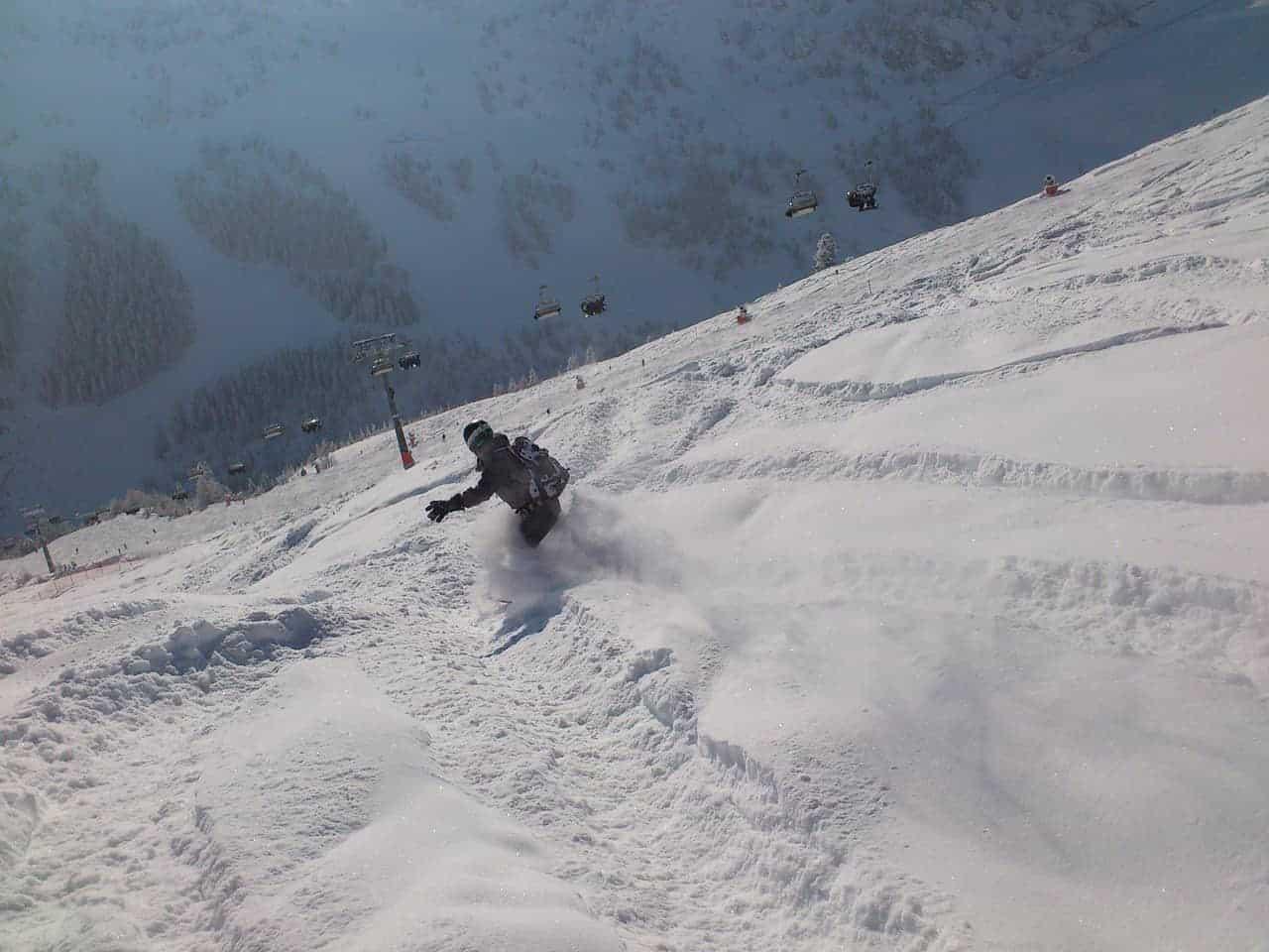 Over snowboarden